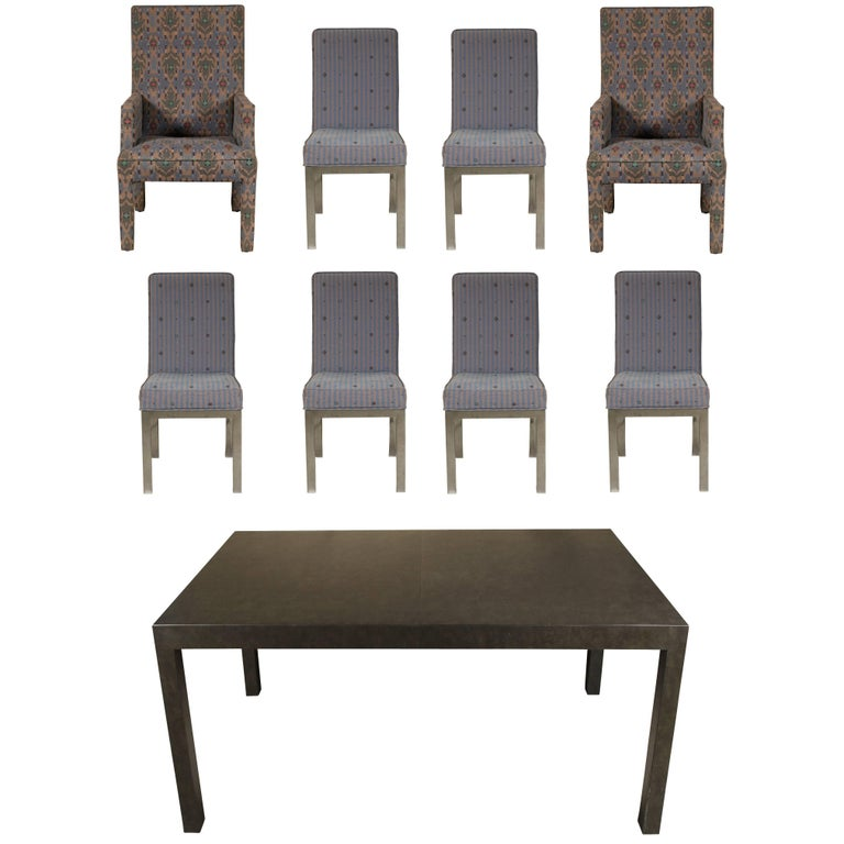 Modern Dining Set With Eight Chairs For Sale At 1stdibs