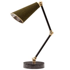 Lanterna Green Colored Felt Table Lamp by Merve Kahraman