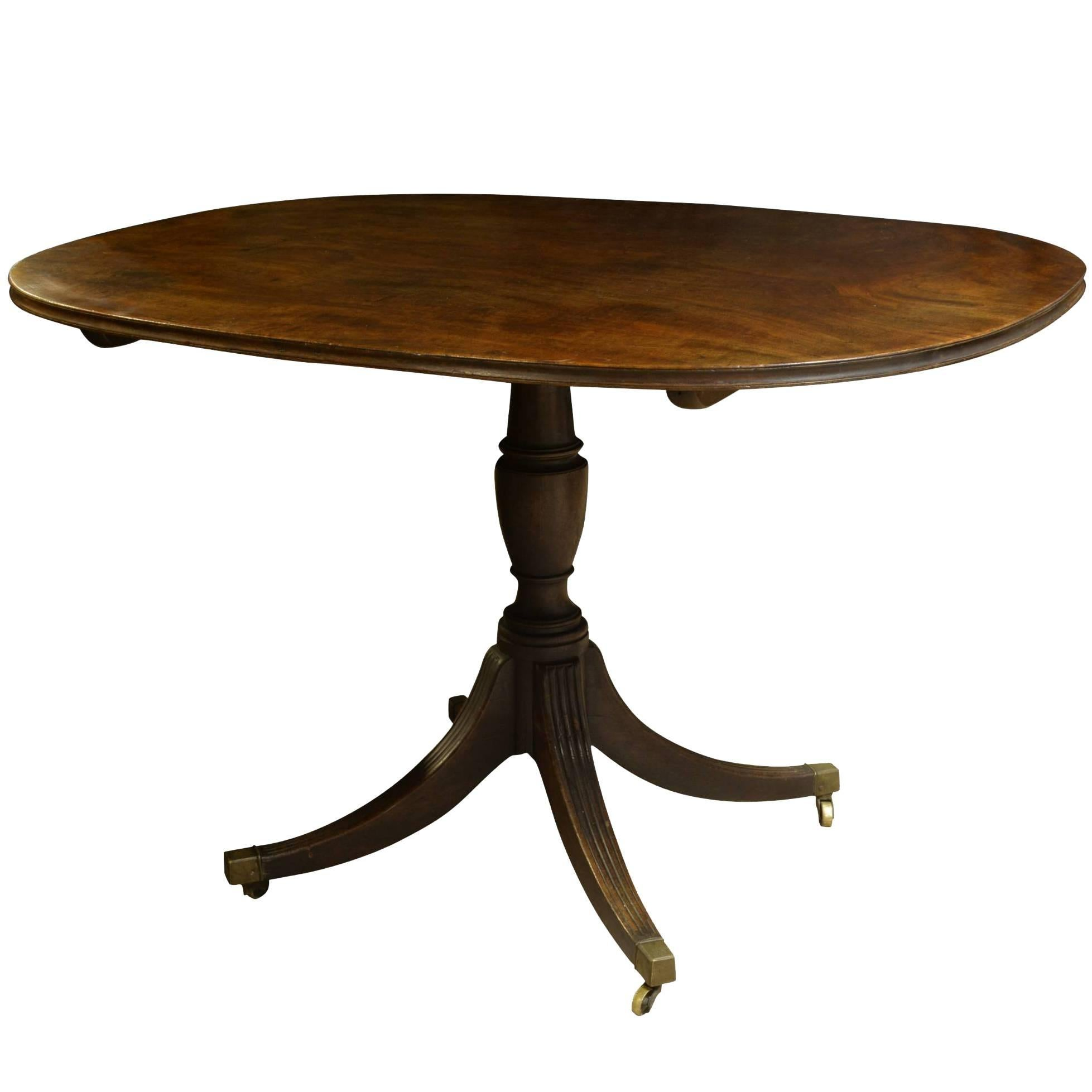 Regency Mahogany Small Oval Breakfast Table 1