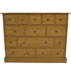 Vintage Pine 13-Drawer Apothecary Chest