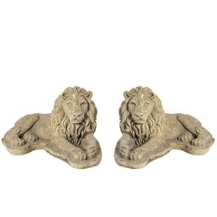 Pair of English Garden Lions