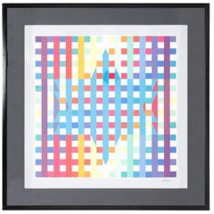 Opt Art Lithograph by Agam
