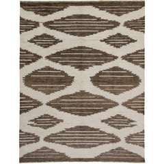 New Contemporary Moroccan Rug with Geometric Tribal Navajo Design