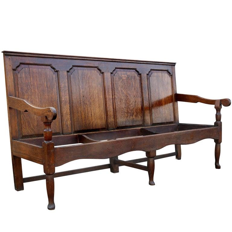 Georgian Oak Bench