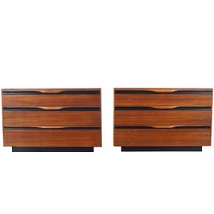 Mid-Century Walnut Chest of Drawers by John Kapel