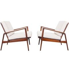 Danish Modern Lounge Chairs by Ib Kofod Larsen