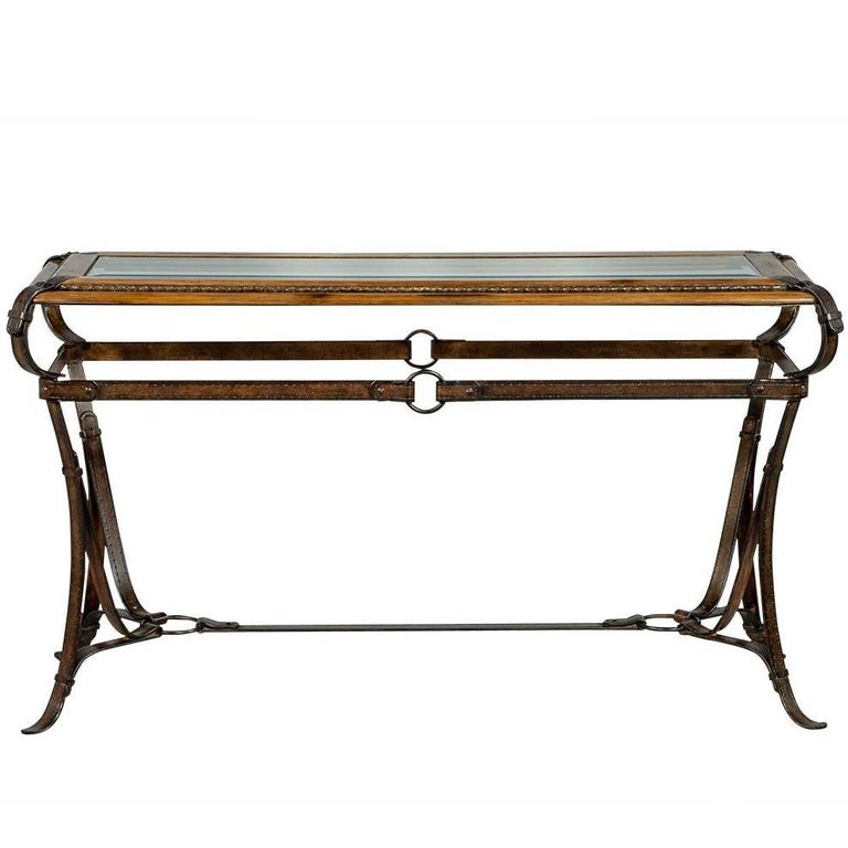 Decorative Strapped Console Table