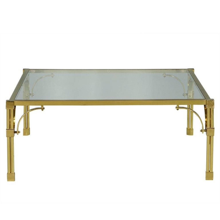 Vintage Brass And Glass Chinoiserie Style Cocktail Table For Sale At 1stdibs