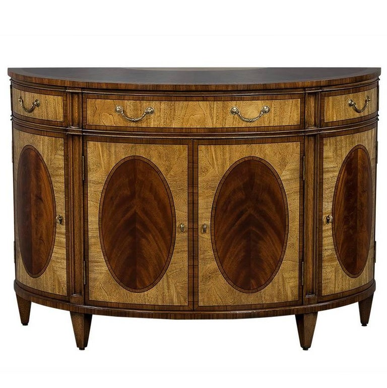 Sheraton style demilune commode buffet for sale at 1stdibs - Commode buffet design ...