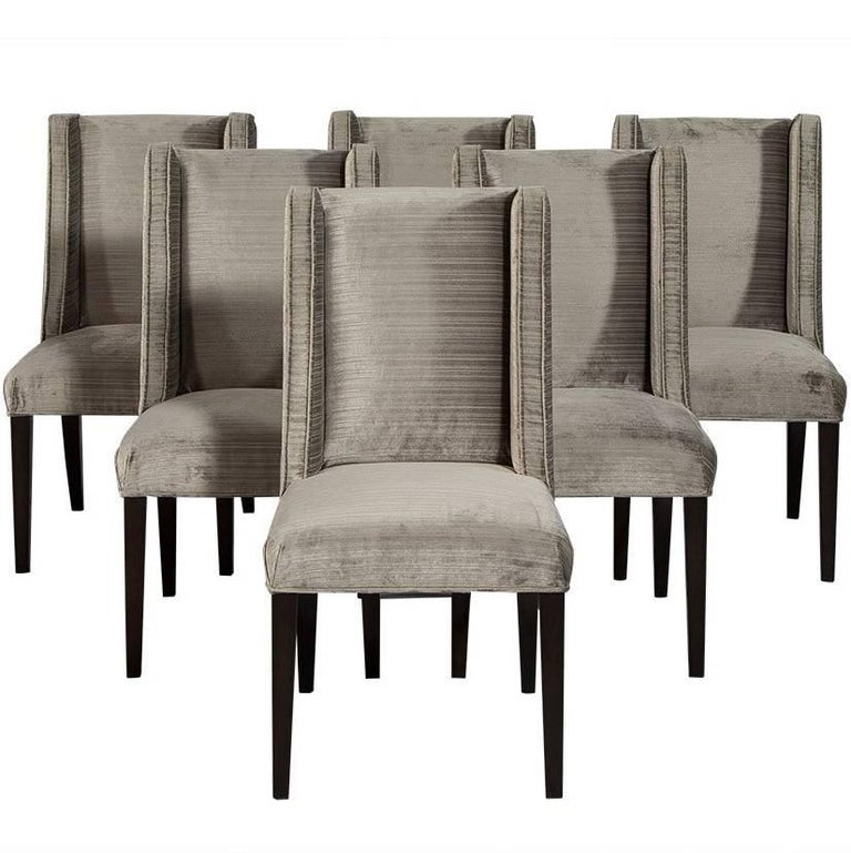 Set of Eight Carrocel Custom Mabel Dining Chairs For Sale