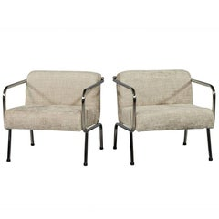Pair of Carrocel Custom Chrome Armchairs