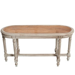French 19th Century Louis XVI Bench with Cane Seat