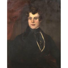 19th Century Oil Portrait  Gilded Frame  Portrait of Gentleman