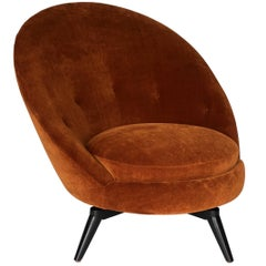 Jean Royere Style Swivel Egg Chair