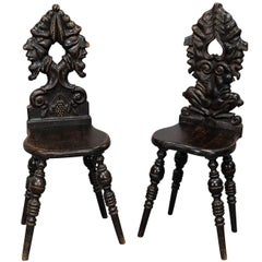 Pair of Renaissance Style Carved Chairs, circa 1890