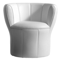 """""""Lisa"""" Leather or Fabric Fiberglass Armchair by Laudani & Romanelli for Driade"""
