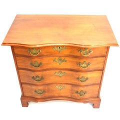 Diminutive Massachusetts Chippendale Reverse Serpentine Chest of Drawers