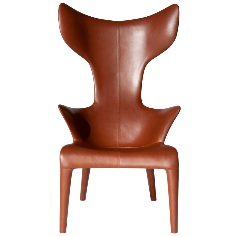"""Lou Read"" Leather and Reinforced Polyurethane Armchair by P. Starck for Driade For Sale"