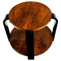 1930´s Art Deco Sidetable, ebonized beech and walnut - France