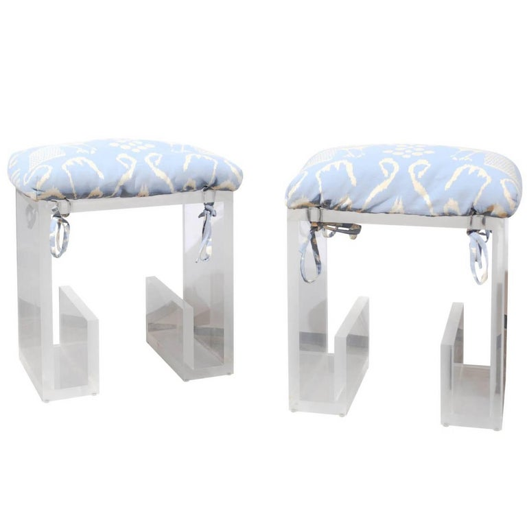 Pair of 1970s Karl Springer Lucite Stools from a  : KarlSpringerorgmaster from www.1stdibs.com size 768 x 768 jpeg 31kB