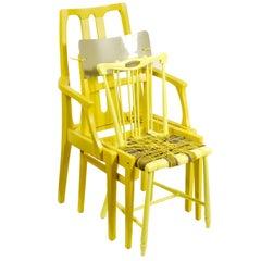 Contemporary Yellow Chair 'Custom Chair' Assemblage by Karen Ryan