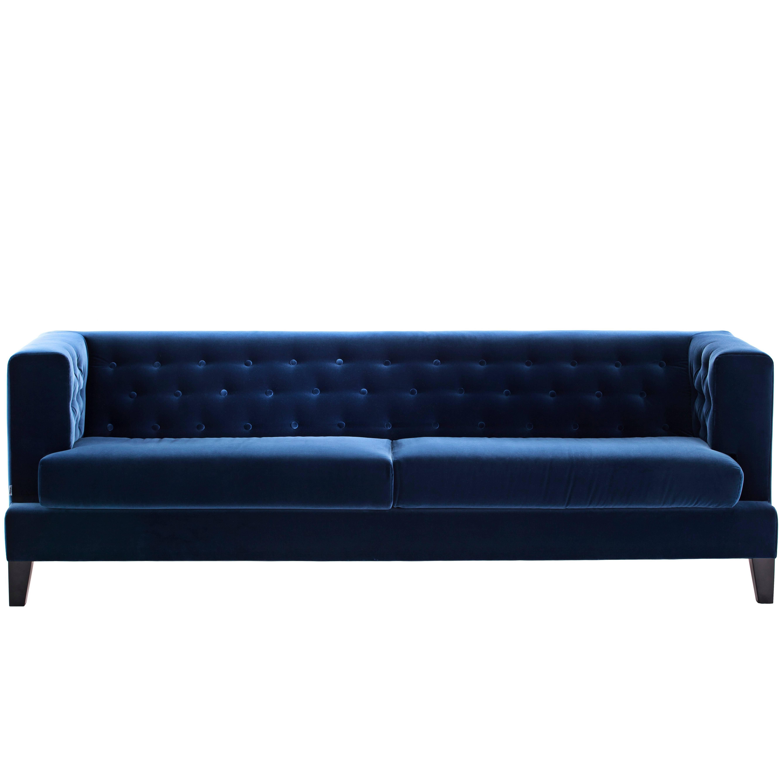 """Hall"" Fabric or Leather Three-Seat Sofa by Rodolfo Dordoni for Driade"
