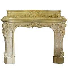 Napoleon III Style Fireplace, 19th Century