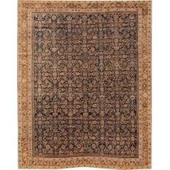 "Antique Distressed Persian Mahal Rug, 8'10"" x 11'1"""