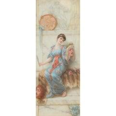 Emile Eisman-Semenowsky Polish, 1857-1911 the Mask Oil on Panel