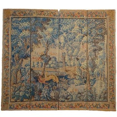 Four-Panel Printed Tapestry Style Screen