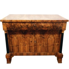 19th Century Biedermeier Walnut Sideboard / Cupboard from Germany