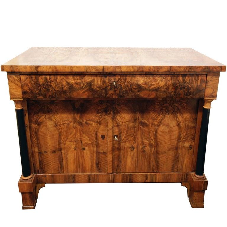 19th Century Biedermeier Walnut Sideboard / Cupboard from Germany