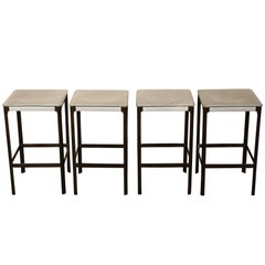 Set of Four Mid-Century Modern Matteo Grassi Design Stools