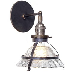 Small Industrial Sconce with Snap-In Shade