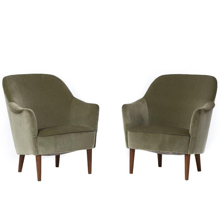 Danish Modern Sampsell Lounge Chairs For Sale At 1stdibs