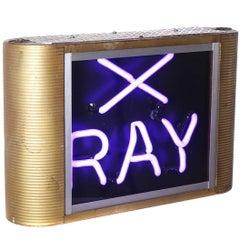 Art Deco X-Ray Neon Sign