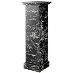 Roma Colomn in Black Marble Imitation Exceptional Work