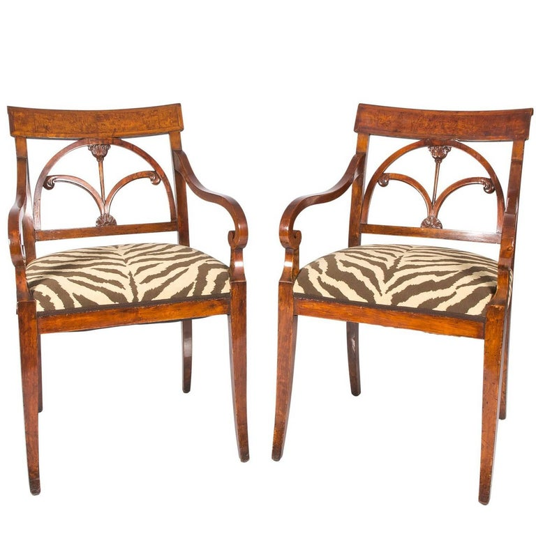 Missoni Fabric Covered Bergere Chair: Faux Zebra Fabric Covered Chairs For Sale At 1stdibs
