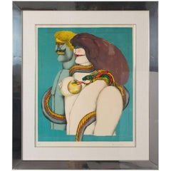 Lithograph of Couple by Richard Lindner