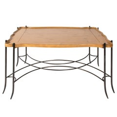 Iron Base Table with Tray