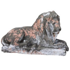 Cement Reclining Lion
