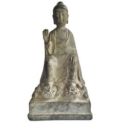 Antique Bronze No Fear Buddha