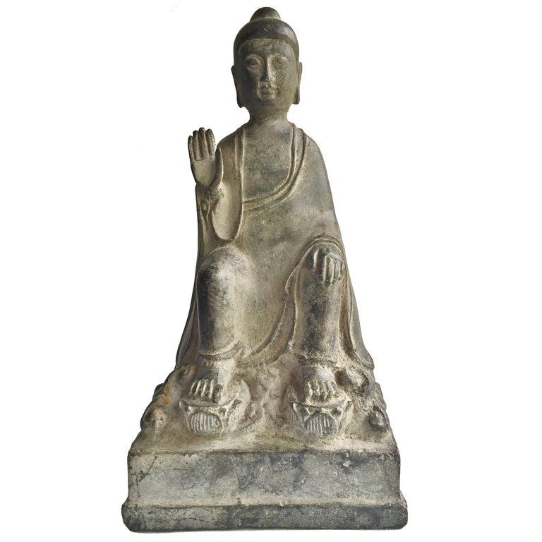 Antique Bronze No Fear Buddha