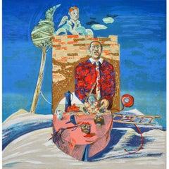 Luigi Rincicotti, I Dodici Mesi, February Lithograph