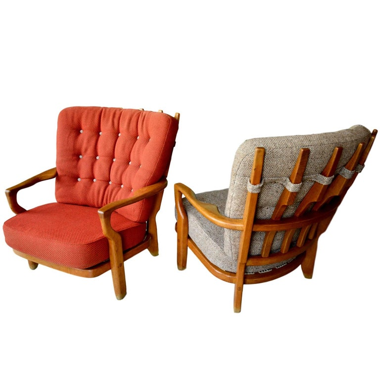 Guillerme et Chambron Pair of Armchairs