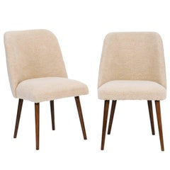 Pair of French Mouton Upholstered Side Chairs from the Mid-Century