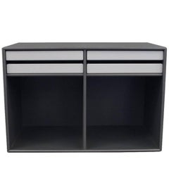 Montana Bookcase in Dark Grey with Small Drawers and Shelf Space