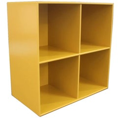 Bookcase, Module 1112, in Yellow by Montana with Four Spaces