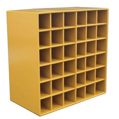 Bookcase in Yellow by Montana with 36 Smaller Spaces for Wine or Similar