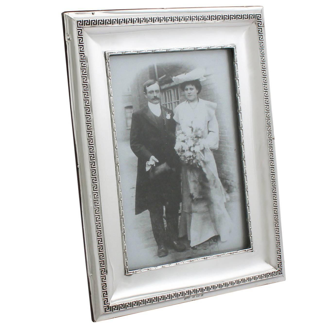 1908 Antique Sterling Silver Photograph Frame at 1stdibs